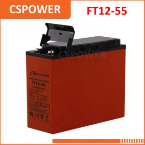 FT12-55 12V55ah Communication Front Access Terminal Battery Telecom 12V 55ah pictures & photos