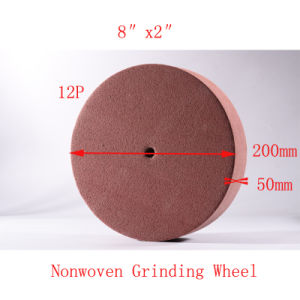 "8""X2"" 12p Wire Drawing Tuck Point Abrasive Non Woven Polishing pictures & photos"
