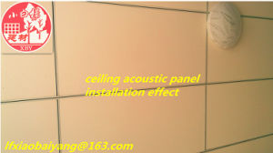 Fabric Covered Acoustic Fiberglass Panel Acoustic Panel Wall Panel Ceiling Panel Decoration Panel pictures & photos