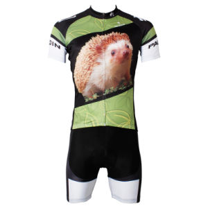 Breathable Hedgehog Pattern Short Sleeve Cycling Jersey pictures & photos