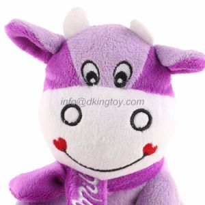 Promotion Purple Cows Plush Stuffed Gift Toys pictures & photos