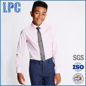 Pure Cotton Long Sleeve Formal Shirt and Tie for Middle School Uniform pictures & photos