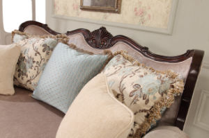 American Classical Fabric Sofa with table Set for Living Room pictures & photos
