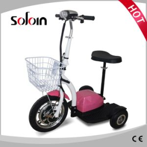 3 Wheel Foldable Electric Mobility Brushless Motor Scooter (SZE350S-3) pictures & photos