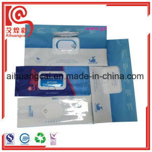 Wet Tissue Packaging Plastic Bag with Window pictures & photos