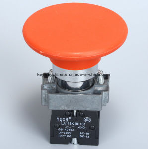 Mushroom Metal Type Pushbutton Switch (LA118KBM6) pictures & photos