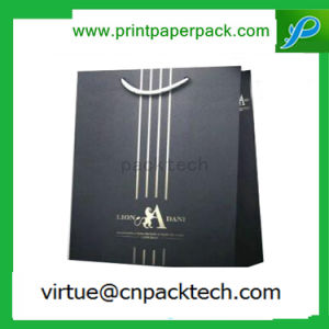 High Quality Custom Black Gloss Laminated Kraft Paper Bag with Logo pictures & photos