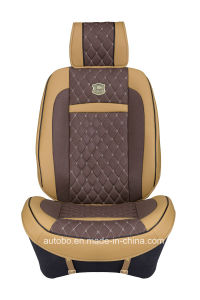 Car Seat Cover 3D Shape with Four Season Leatherette-Red Brown pictures & photos