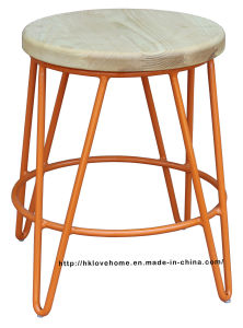 Replica Restaurant Metal Furniture Wooden Dining Bar Stools pictures & photos