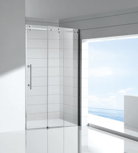 New Arrivals Hot Selling Frameless Shower Enclosure by Pass Big Roller Sliding Door pictures & photos