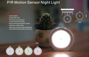 Smart LED Wireless Table Cambinet PIR Motion Sensor Night Light pictures & photos