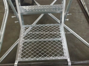 Scaffolding Galvanized Staircase/Stairways with Guardrail for Construction pictures & photos