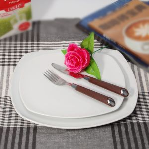 New Arrival Ceramic Stackable Square Plates for Coffee Dinner pictures & photos