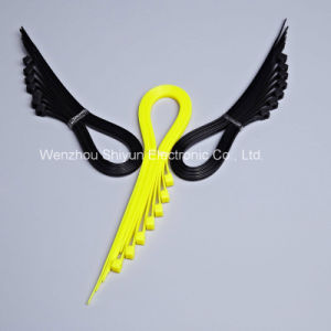 11 5/8′′ 120lbs UV Black/ White Self-Locking Nylon Cable Ties pictures & photos