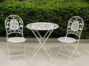Lovey Antirust Foldable Outdoor Bistro Set Table and Chair Set pictures & photos