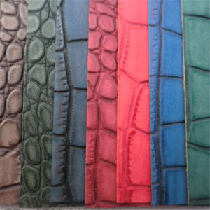 Bright Color Crocodile PVC Leather for Bags Chairs Decoration pictures & photos