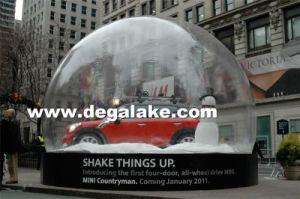 PVC or TPU Material Inflatable Snow Globe for Advertising Promotion