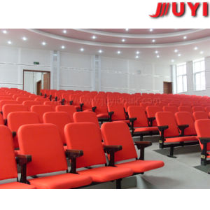 Chinese Maker for Conference Hall Folding Theater Furniture Flame Retardent Fabric Auditorium Upholstered Portable Chair pictures & photos