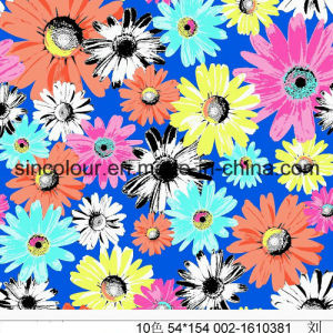 Multi Flowers Knitted Printing 80%Polyamide 20%Elastane Fabric for Swimwear pictures & photos
