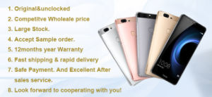 "2016 Original Unlocked Huawei Honor V8 5.7"" Android Octa Core 12MP 4G Lte Mobile Phones pictures & photos"