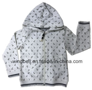 Terry Sweat Zipper Hoody for Girl with All-Over Printing pictures & photos
