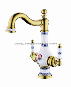 New Design Chinese Ceramic Basin Faucet (Zf-606) pictures & photos