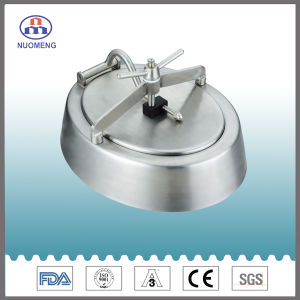Sanitary Stainless Steel Round Outward Manhole Cover with Blue Handle (No. NM13013) pictures & photos