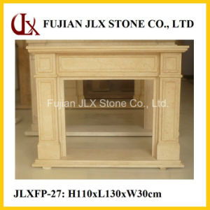 Beige Marble Home Decorative Stone Fireplace Mantel pictures & photos