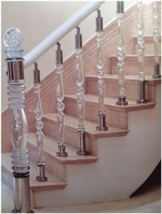 Building Material Acrylic Handrail with ISO9001 Certification pictures & photos