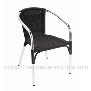 Black Outdoor Rattan Chair with Armrest for Coffee Shop (SP-OC763) pictures & photos