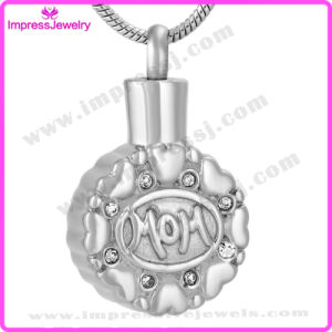 Urn Necklaces Round Pendants with Colourful Crystals for Mom Ijd9647 pictures & photos