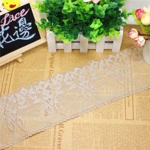 Factory Stock Wholesale 10.5cm Width Embroidery Nylon Lace Polyester Embroidery Trimming Fancy Lace for Garments Accessory & Home Textile &Curtains Decoration pictures & photos