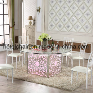 China Wholesale Square/ Round LED Wedding Table pictures & photos