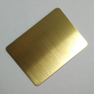 Steel Products Hairline Gold Color Stainless Steel Sheet for Decoration