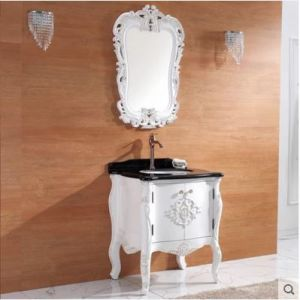 Ying Solid Wood Bathroom Cabinet Handwork Carving Basin pictures & photos