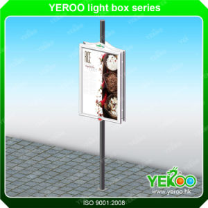 Outdoor Furniture Double Sided Lamp Post Light Box pictures & photos