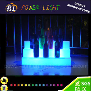 Outdoor& Bar LED Furniture Colorful Glowing LED Wine Display pictures & photos