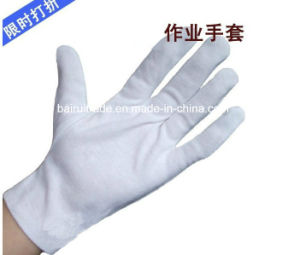 Soft White Nylon Parade Glove for Etiquette Working Glove pictures & photos