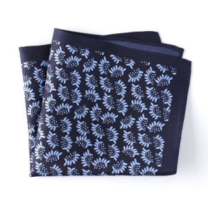 Fashionable Silk Polyester Plaid Dots Flower Printed Pocket Square Hanky Handkerchief pictures & photos