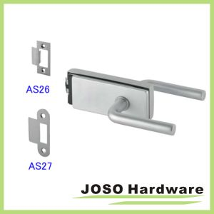 Stainless Steel Hollow Metal Frame Glass Door Lock Set (GDL019B-1) pictures & photos
