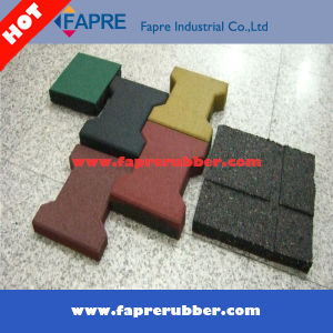 Dog-Bone Rubber Bricks/Colorful Rubber Tile/Safety Rubber Floor pictures & photos
