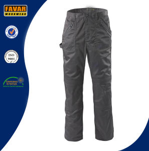 Cordura Reinforced Knees Black Mens Multi-Pockets Work Trousers pictures & photos