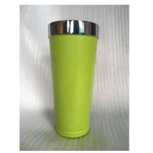 20oz Double-Wall Stainless Steel Vacuum Tumbler with Green Powder Coating