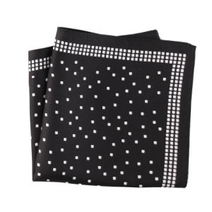 Fashionable Silk Polyester Dots Flower Printed Pocket Square Hanky Handkerchief (SH-044) pictures & photos