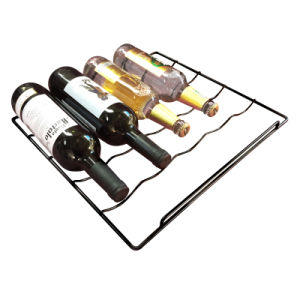 Refrigerator Wine Rack with White/Black PE Coated