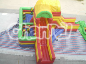 Hot Sell Inflatable Dry Slide Double Slides for Kids and Adults pictures & photos