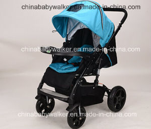 Blue High Landscape Stroller for Baby pictures & photos