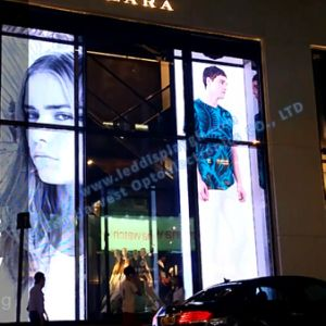 P5 Indoor Outdoor Glass High Transparent LED Display pictures & photos