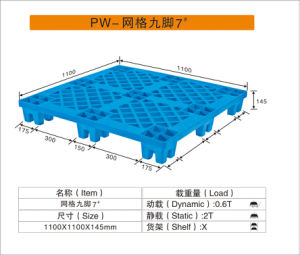 HDPE Material High Quality Green Color Plastic Pallet