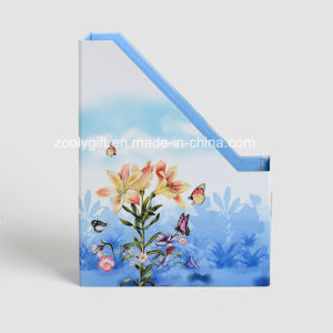 Desktop Cardboard File Holder Storage Box Magazine File Holder Box pictures & photos